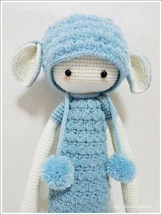 LUPO the lamb handmade by Sweetmona / crochet pattern by lalylala