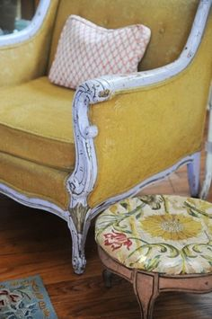 Yellow chair via Heather Bullard by leila