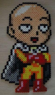 Saitama Chibi from One-Punch Man Perler Beads