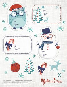 We Love to Illustrate: Free Printable Gift Tags! Other really cute ones on this page also.