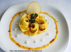 Tortelloni anatra e pere con crema di zucca e Olio Flaminio Delicato  by http://danieladiocleziano.blogspot.it