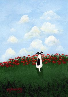 Smooth Fox Terrier Dog POPPY HILL limited edition reproduction art print of Todd Young painting