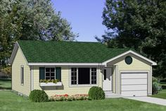 Browse nearly ready-made house plans to find your dream home today. Floor plans can be easily modified by our in-house designers. Cottage Style House Plans, Southern House Plans, Cottage Plan, Ranch House Plans, Country House Plans, Small House Plans, House Floor Plans, Cottage Style Homes, Cottage Design