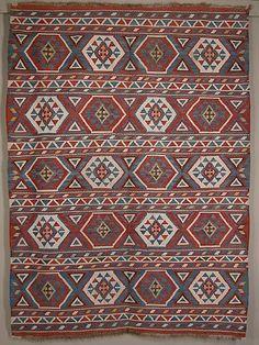 Shirvan Kilim  Azerbaijan. Late 19th century