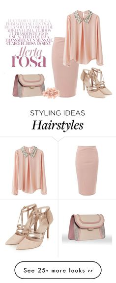 """Pink & Sparkly"" by najoli on Polyvore featuring Glamorous, Topshop and Tasha"