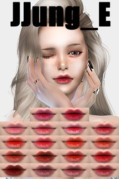 감사합니당 Thank You N Love You:Lip 15 : > :Re-upload No:< :Please do not redistri. Sims 4 Cc Skin, Sims Cc, Sims Packs, Sims 4 Mods Clothes, Sims 4 Characters, Sims 4 Cc Shoes, Sims 4 Cc Makeup, Sims 4 Custom Content, Freckles