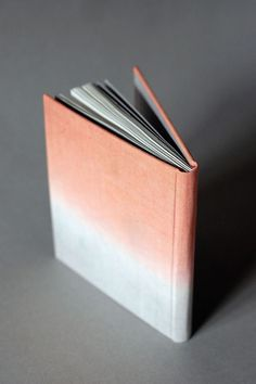 Ombre Linen Book in Peach and Gray with Lined Pages