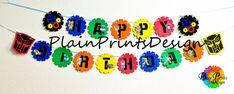 Transformador Rescue Bots cumpleaños Banner por PlainPrintsDesign