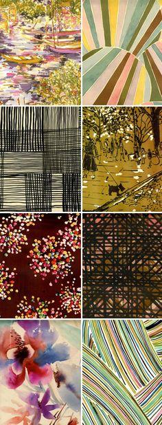 designs by textile designer Luli Sanchez http://www.lulisanchez.com/#1 #fabrics #textiles #patterns