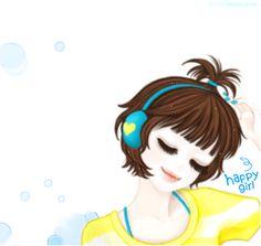 ✿♥Cute space of my magical world♥✿: korean kawaii girl cute gifs Cute Gifs, Lily Cat, Girly M, Girly Girl, Girl With Headphones, Very Good Girls, Korean Anime, Cute Baby Dolls, Cute Cartoon Girl