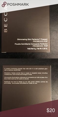 Becca pressed highlighter in prosecco pop Shimmering skin protector is best-selling creamy highlighter powder that will light up the features you love with a high-shine finish. New never used still in box BECCA Makeup Luminizer