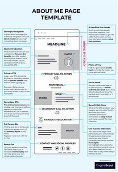 about me page template – Business marketing design Affiliate Marketing, Online Marketing, Digital Marketing, Marketing Audit, Marketing Ideas, Media Marketing, Site Web Design, Web Design Tips, Homepage Design