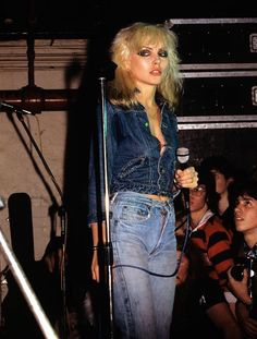 Debbie Harry from the band Blondie
