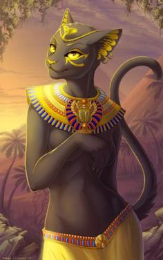 Another Bastet furry divineart Egyptian goddess Bastet Goddess, Egyptian Cat Goddess, Egyptian Cats, Goddess Art, Ancient Egyptian Art, Egyptian Mythology, Fantasy Creatures, Mythical Creatures, Fantasy Kunst
