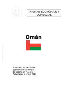 Informe económico y comercial. Omán 2013