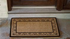 Personalized Doormats- 22 X 36 - Corinthian Border - Blank . $37.50. To clean just brush shake and vacuum. Personalized in the USA. Hand Woven in Kerala India. 1 1/2 inch Thick Hand Woven Coir Doormat. Ideal for Dry Protected Entranceways. These hand woven natural fiber coconut doormats are hand woven in Karala India and personalized right here in the USA. These doormats are stain, rot, and mildew resistant and can be easily cleaned with a good shaking or vacuum...