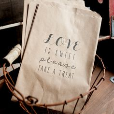 Rustic Wedding Favor  Treat Bag Favor Bag Candy by inoroutmedia, $65.00