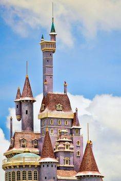 The Beast's castle on top of Be Our Guest Restaurant