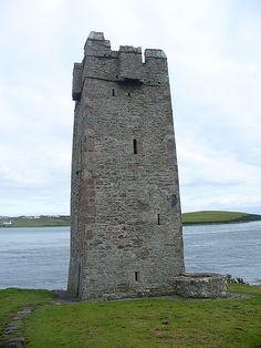 """""""The Pirate Queen"""" Grace O'Malley's castle, Achill Island, Ireland"""
