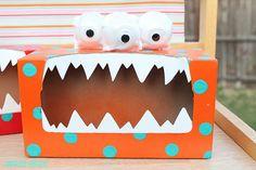 Monstruos de papel con cajas recicladas - Manualidades de papel y cartón