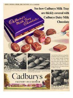Image detail for -BP027 - Cadburys Milk Tray, Chocolate Advert, 1950s (30x40cm Art Print ...