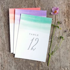 One of the most affordable ways to inject color into your tablescapes is through table numbers, and this watercolor-inspired design by Evermine is positively swoon-worthy. Choose from four different colors, including coral, deep blue, Aruba, and lilac.Download the free printable here ►Related: 50 Memorable Ideas for Your Table Numbers