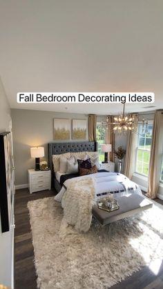 Fall Bedroom Decor, Fall Home Decor, Glam Bedroom, Bedroom Ideas, Master Bedroom Design, Master Bedrooms, Interior Design Tips, Fall Crafts, Bedroom Inspiration