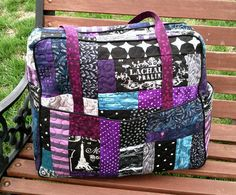 Quilt As You Go Weekender Bag & Accessory Pouch - PURSES, BAGS, WALLETS