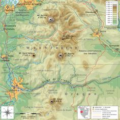 Cascade Range Description South Washington Cascade Range Topographic Map Fr Svg