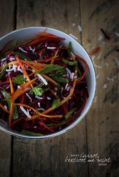 Vegan Sweet Carrot, Beetroot & Mint Salad