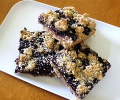 Blueberry bonanza.Excellent cold dessert.Blueberry pie filling with walnuts,berry cream liqueur and graham cracker crumbs.