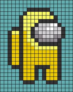 Perler Bead Templates, Diy Perler Beads, Perler Bead Art, Melty Bead Patterns, Perler Patterns, Beading Patterns, Piskel Art, Pix Art, Minecraft Pixel Art