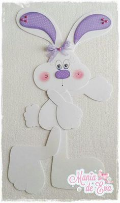 Foam Crafts, Decor Crafts, Diy And Crafts, Crafts For Kids, Arts And Crafts, Happy Easter, Easter Bunny, Nature Crafts, Paper Piecing
