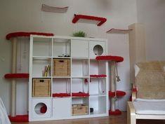 Die Katzenkratzbäume, die man im Handel bekommt gefallen mir häufig nicht, sind zu teuer oder einfach viel zu klein für einen ausgewachsenen Maine Coon. Also habe ich mir etwas anderes überlegt. Ich wollte etwas bauen, das vom Stil und von der Farbe her in mein neues Wohnzimmer passt. Ich habe mich dafür eintschieden ein weißes EXPEDIT-Regal von IKEA umzubauen, das ich ohnehin schon hatte. Der Plan war, Liege-und Kratzflächen für die Katzen zu schaffen, Verstecke, Spielmöglichkeiten und…