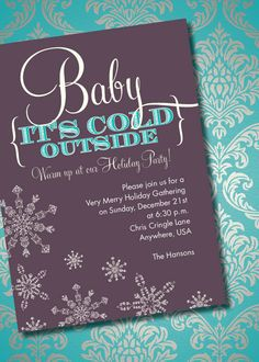 DIY Printable Baby It's Cold Outside Holiday by loralangdesigns, $15.00