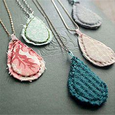 DIY Fabric Pendant Necklaces