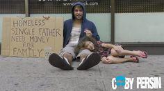 Impactante video: ¿A quién ayudaría antes, a un sintecho con una hija o a un drogadicto?