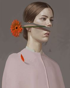 Turkish illustrator Aykut Aydoğdu is one of those artists who's been frequently added to our illustration galleries over the years. Since we more or less have shown his pieces one by one, we've… Behance Illustration, Illustration Vector, Illustration Flower, Portrait Illustration, Behance Branding, Behance Portfolio, Art Du Collage, Surreal Art, Surreal Portraits