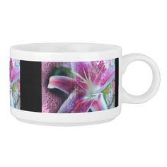 Pink stargazer lily flower with textured overlay and patterns mixing on the surface.