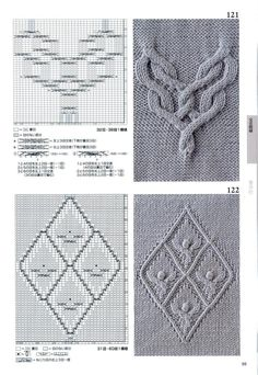 260 Knitting Pattern Book by Hitomi Shida 2016 — Yandex.Disk The Effective Pictures We Offer You Abo Cable Knitting Patterns, Knitting Stiches, Knitting Books, Knitting Charts, Lace Knitting, Knitting Designs, Knit Patterns, Knitting Projects, Stitch Patterns