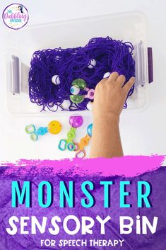 Do you students love talking about monsters? Make your own monster sensory bin and use to cover lots of speech and language goals. Preschool Speech Therapy, Speech Therapy Games, Articulation Therapy, Articulation Activities, Speech Language Therapy, Preschool Kindergarten, Sensory Activities, Speech And Language, Halloween Speech Therapy Activities