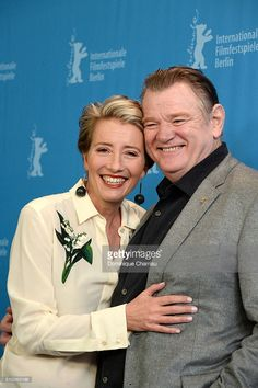 Actors Emma Thompson and Brendan Gleeson attend the 'Alone in Berlin' (Jeder stirbt fuer sich) photo call during the Berlinale International Film Festival Berlin at Grand Hyatt Hotel on February 2016 in Berlin, Germany. Hollywood Actor, Hollywood Actresses, Brendan Gleeson, Berlin Photos, Harry Potter Actors, Emma Thompson, Grand Hyatt, February 15, International Film Festival