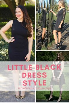 Three Ways to Wear Little Black Dresses | How To Style A Little Black Dress | Little Black Dress For Holiday Parties | Holiday Fashion | Holiday Outfit | MomTrends.com #littleblackdress #holidayoutfit #holidayfashion