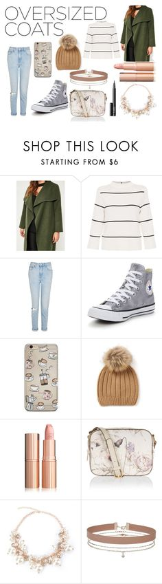 """Oversized Coats And Cashmere Hats"" by irishsnowflake14 ❤ liked on Polyvore featuring Missguided, L.K.Bennett, Topshop, Converse, Monsoon, Miss Selfridge, NARS Cosmetics and oversizedcoats"