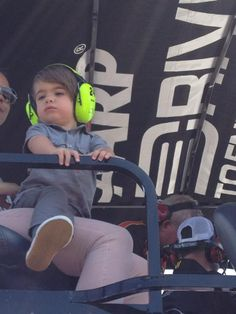 on top of the No. 24 pit box before Raceway race. Jeff Gordon, Nascar, Baby Strollers, Leo, Racing, Children, Shopping, Baby Prams, Running