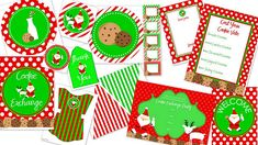 Goodies for your Cookie Exchange - Love the Fun Pattern and bright Christmas Colors for your Cookie Swap and some items could probably be used just for a Christmas party Noel Christmas, All Things Christmas, Handmade Christmas, Christmas Ideas, Xmas, Christmas Decor, Christmas Scripture, Christmas Labels, Christmas Nativity