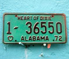 vintage alabama license plates