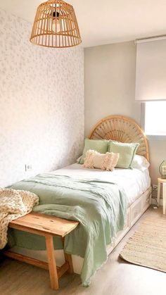 Bedroom Decor For Small Rooms, Bedroom Decor For Couples, Room Design Bedroom, Room Ideas Bedroom, Home Decor Bedroom, Interior Design Living Room, Green Bedroom Decor, Bed & Breakfast, Aesthetic Bedroom