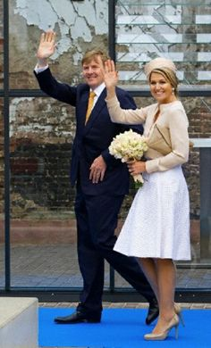 King Willem-Alexander and Queen Maxima of the Netherlands visit the Achterhoek region in the province Gelderland in the Netherlands, 6 May 2014