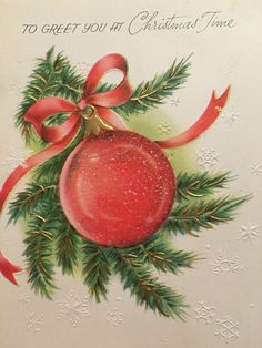 A personal favorite from my Etsy shop https://www.etsy.com/listing/461370188/vintage-christmas-card-unused-nos